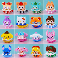 Disney Stitch blocks brick toys building Mini Duffy blocks cartoon characters teaching units childrens toy compliant