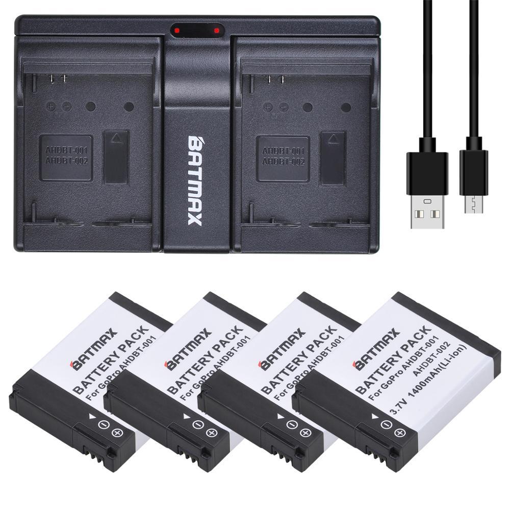 Аккумулятор Batmax 1400 мАч, зарядное устройство с двумя USB портами для GoPro HD Hero1 Hero2, для спорта на мотоцикле, для серфинга на открытом воздухе, 960 1080P Цифровые аккумуляторы      АлиЭкспресс