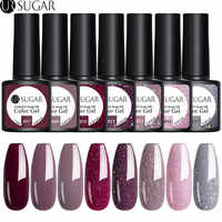 UR SUGAR 2/3/4/6Pcs Nail Gel Polish Set Color Gel UV Vernish Semi Permanent Top Coat 7.5ml Soak Off Varnish Nail Art Manicure