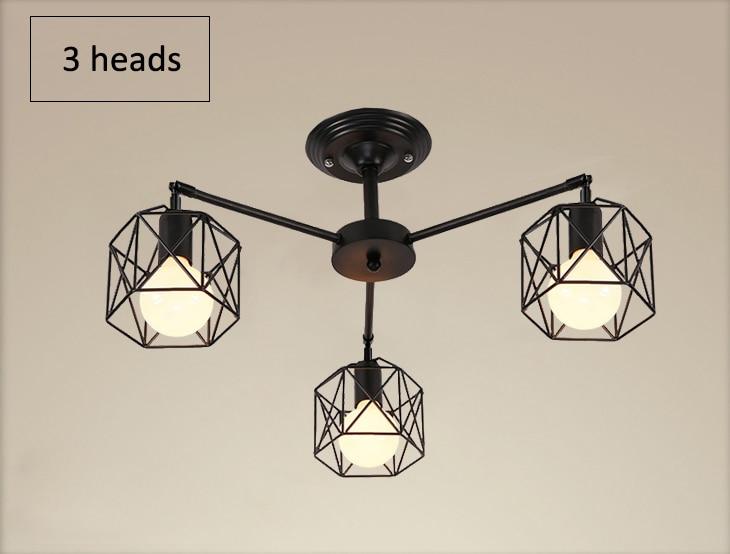 H735e92c5dd6a49c8862cb3fd653dfb10F Modern Black Chandelier Lighting American Iron Cage Ceiling Lamp Light Fixtures Kitchen luminiare Bedroom Living Room Home Light