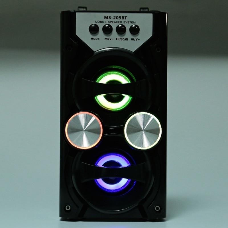 Clearance SalePortable Ms-209Bt Card Wireless Bluetooth Speaker Fm Radio Outdoor Speaker Audio High Power Tf Usb Music Speakers