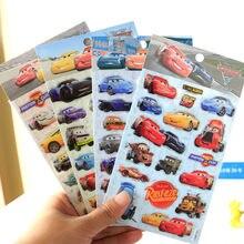 1 Stuks Disney Echt Speelgoed Stickers Pixar Cars Mcqueen Kinderen Cartoon Stereo 3d Stickers Speelgoed Kerst Verjaardagscadeau