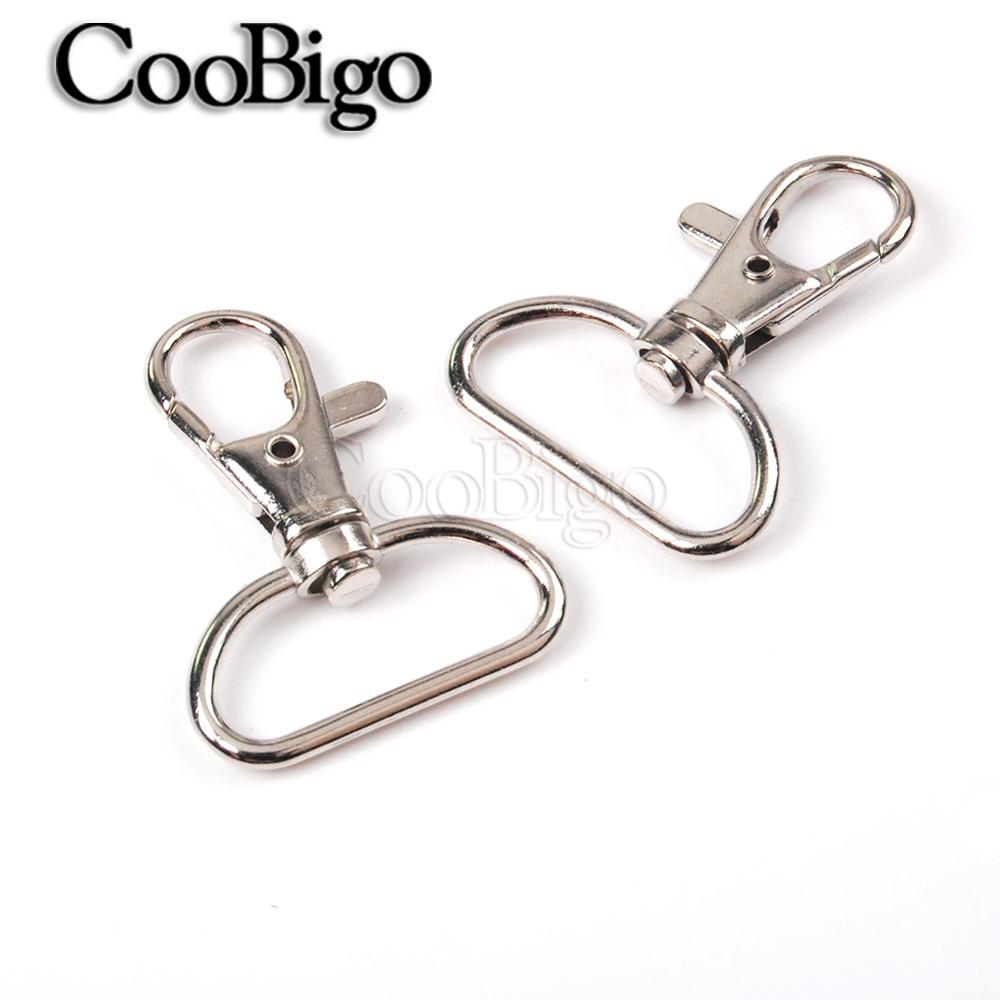 1 Piece Stainless Sports Caribiner Clasp D-Ring Clip Snap Hook Keychain Backpack