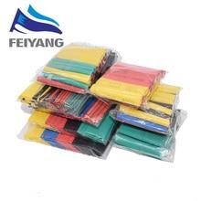 328 adet/takım Sleeving Wrap tel araba elektrik kablosu boru kitleri ısı borusu Shrink boru poliolefin 8 boyutları karışık renk