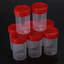 50 stks/set Specimen Fles Monster Cup Wegwerp Nosodochium Container Test 60ml Nuttig Ziekenhuis Inspecteren Glas Handig Gereedschap