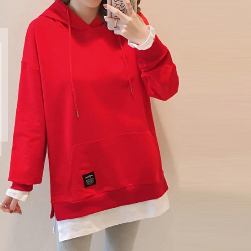 2020 New Women Autumn Winter Solid Casual comfortable sweatshirt Plus Size
