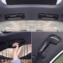 Cubierta interna para pasamanos de techo de coche, protector de reposabrazos para Nissan MICRA, estilismo para coche, novedad
