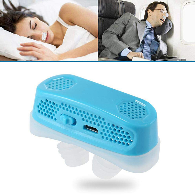 3 Colors Can Choose Electronic Anti Snoring Devices Oxygen Concentrator Snoring Stopper Nose Vent Dilator   USB Rechargeable