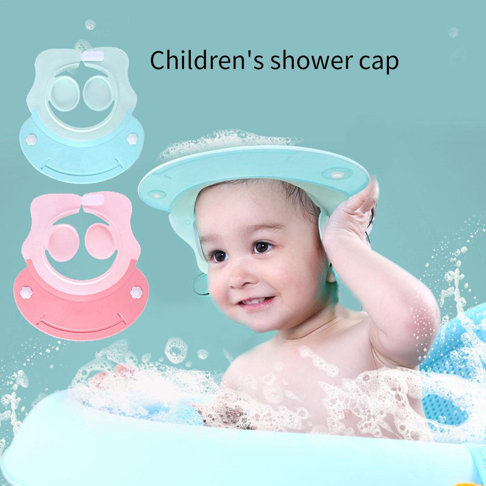 Adjustable Baby Hat Toddler Kids Shampoo Bathing Shower Cap Wash Hair Visor Caps For Baby Care Ear Protection 2 colors