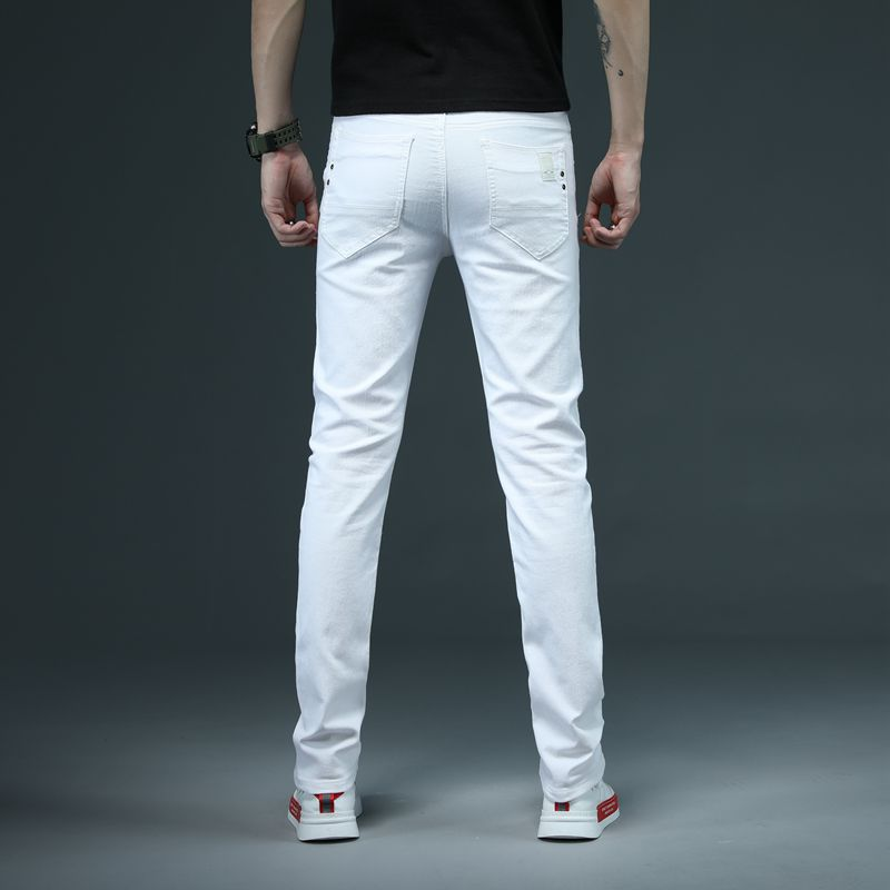 Ultimate SaleSkinny Jeans Trousers White Brand Pants Stretch Classic-Style Male Men's Casual Fashion²
