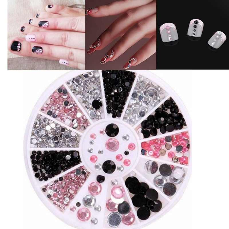 Nail Art Sieraden Acryl Diamant Doos Set Nail Boor Nail Art Decorations Crystal Manicure Professionele Nail Accesorios TSLM1