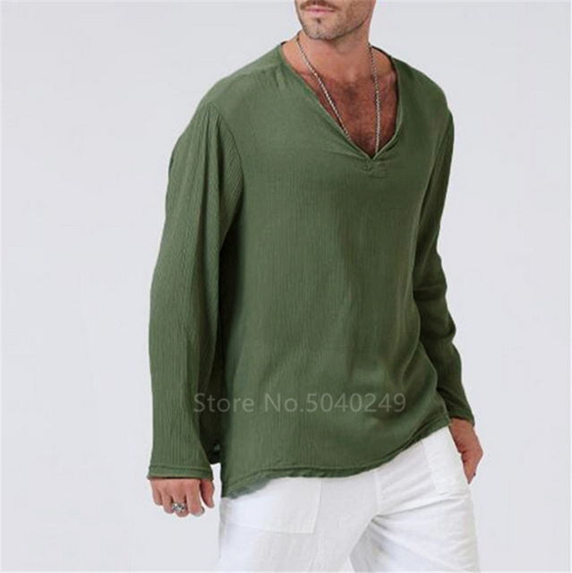 Long Sleeve V neck Tshirt 10