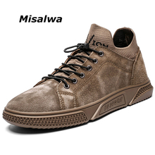 Misalwa New Hot Sale Fashion Men casual Shoes Outdoor Comfortable Men's Leather Sneakers Spring Summer Woven Fabric Men Flats hot sale men shoes spring summer breathable fashion woven espadrilles men casual shoes loafers comfortable mocassins