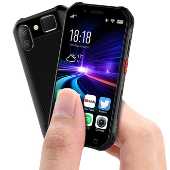 Small mini shockproof mobile phone NFC SOS Walkie talkie 3GB + 32GB 4G Rugged smartphone android fingerprint Face ID cellphone gigaset me pro 3gb 32gb smartphone black