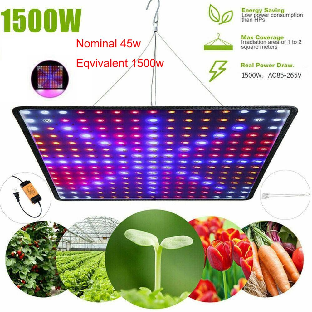 Phytolampa 225 Led 1500W Full Spectrum Indoor LED Grow Light For Plant Growing Flower Seed Lamp Tent Fitolampy UV IR Red/Blue(China)