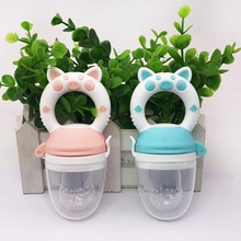 1Pc Handle Pacifier Feeder For Baby Food Grade Silicone PP Training Nipple Milk Fresh