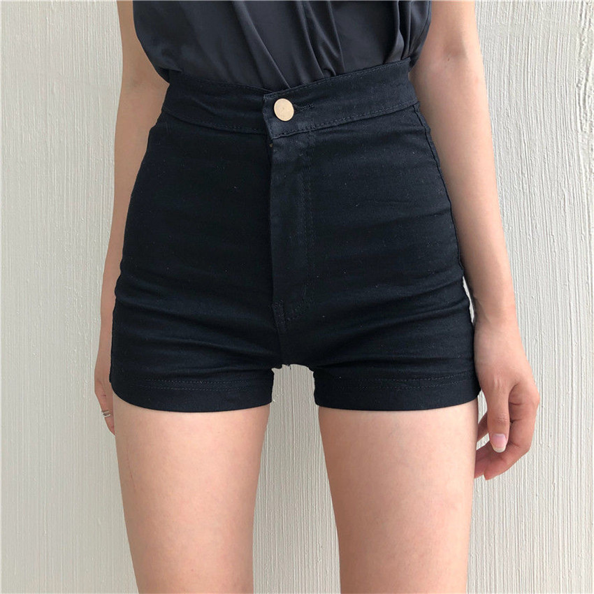 High Waist Denim Shorts Female Short Jeans For Women 2020 Summer Ladies Hot Shorts Solid Denim Shorts Booty Shorts Femme