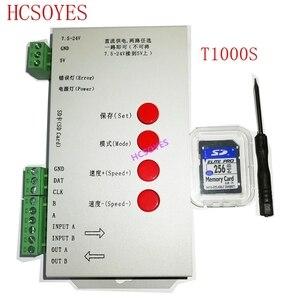 Image 1 - T1000S SD بطاقة APA102 WS2801 WS2811 WS2812B LPD6803 DMX512 LPD8806 LED 2048 بكسل تحكم DC5 ~ 24V T 1000S RGB تحكم