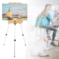 Wooden Stand Painting Easel Sketchbook for The Artist's Easel Table for Drawing Aluminum Alloy Artist Box Art Supplies Easel