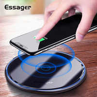 Essager 10W Qi Fast Wireless Fast Charger Fast Induction Wireless Charging Pad For iphone11 pro max Samsung Note 10 Xiaomi mi 9