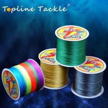 цена на TOPLINE TACKLE Braided Fishing Line Multifilament Wire 4 Strands 300m Cord Fishing Line Braided Fishing Thread Multi Color 100m