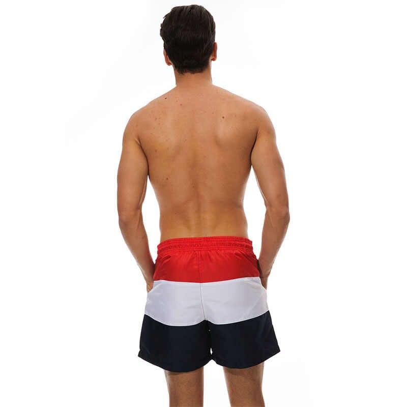 Escatch marka strój kąpielowy kąpielówki męskie szybkie suche Surf plaża szorty sportowe stroje kąpielowe męskie szorty człowiek siłownia bermudy strój kąpielowy
