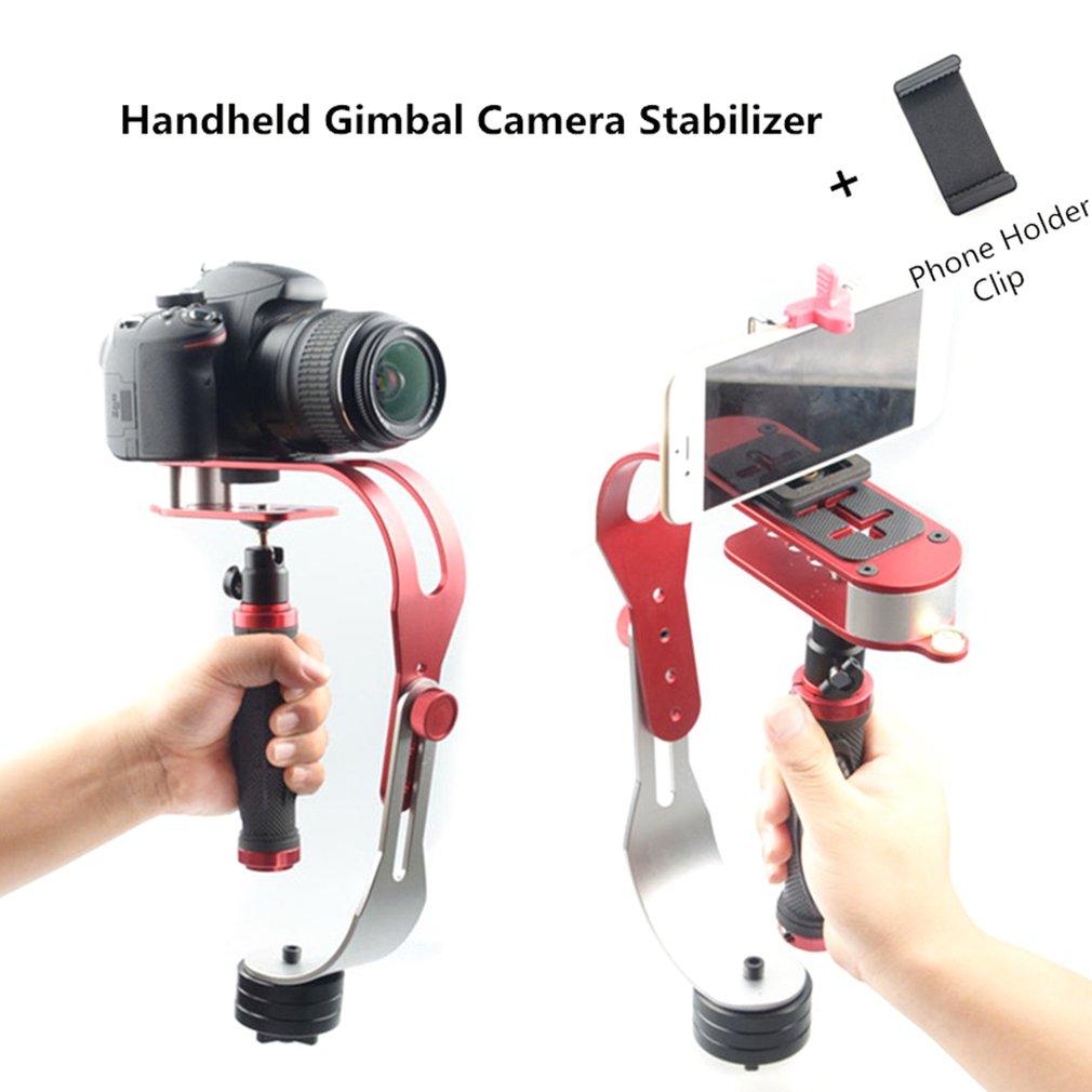 Alloy Aluminum Mini Handheld Digital Camera Stabilizer Video Steadicam Mobile DSLR 5DII Motion DV Steadycam For Gopro With Clip