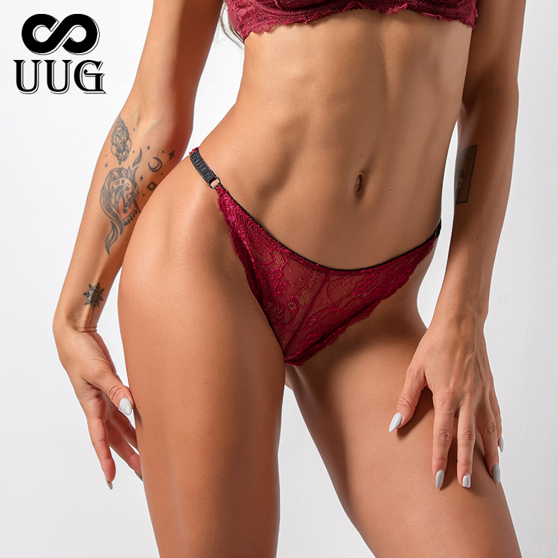 UUG Ladies Sexy Transparent Lace Panties Big Size Bottom Female Cotton Hollow Triangle Underwear Breathable Underwear Quality 2