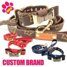 WOFUWOFU Custom Brand, Luxury Small Dog Leash Collar, Gift Box, Cat Leash Collar, The Best Gift For Pets