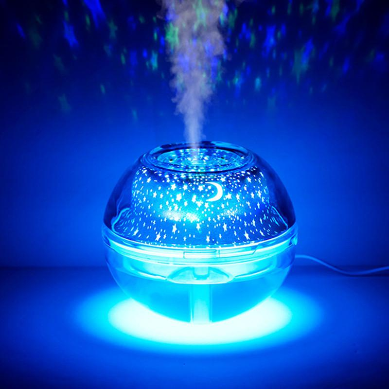 3D Star Projector Lamp Air Humidifier 500ML USB Aroma Diffuser Ultrasonic Mist Maker LED Night Light For Home Air Humidifier