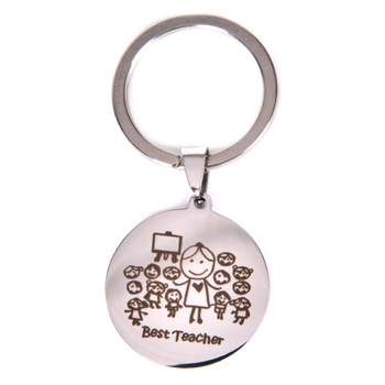 1PCS Thank You For Helping Me Grow&Learn' Ruler abc Book Charm Pendant Keychain Heart Keyring Key Chains Gift Teacher image