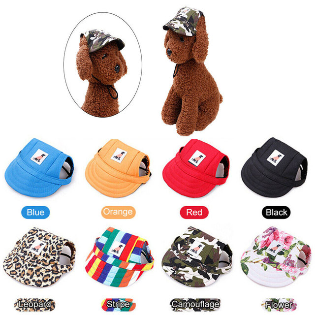 Adjustable Dog Hat Summer Shade Breathable Baseball Cap For Small Dogs Pet Hats With Ear Holes Outdoor Hiking Pet Accessories 1