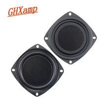 Nouveau 2 pièces 3 pouces 78MM basse radiateur haut-parleur passif pour 2-5 pouces maison Bluetooth haut-parleurs auxiliaire basse fréquence en caoutchouc bricolage