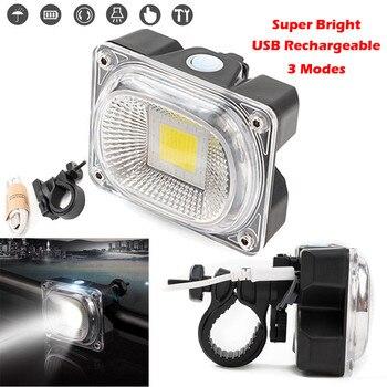 Luz Led frontal para bicicleta, recargable, superbrillante, con Usb, de seguridad para...