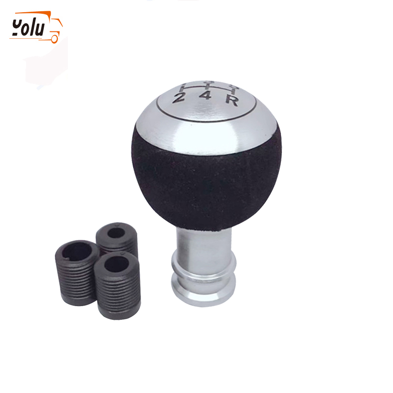 YOLU 5 Speed Auto Car Gear Shift Knob Universal Vehicle Manual Gear Knob Black Leather Shifter Lever Car Interior Accessories in Gear Shift Knob from Automobiles Motorcycles