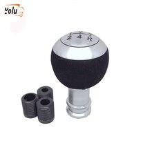 YOLU 5 Speed Auto Car Gear Shift Knob Universal Vehicle Manual Gear Knob Black Leather Shifter Lever Car Interior Accessories все цены