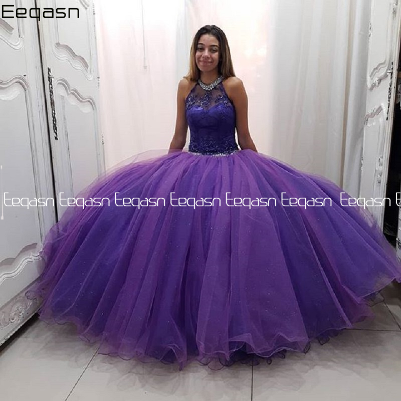 Eeqasn vestido de 15 anos Ball Gown Quinceanera Dresses 2020 Two Pieces Lace 2 in 1 Formal Prom Gown with Detachable Train image