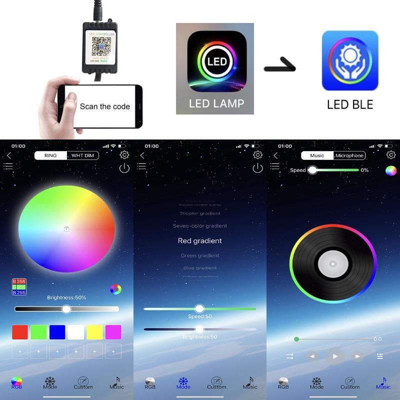 Image 5 - Niscarda 4PCS 12V IP65 Bluetooth App Control RGB LED Strip Under Car 60 90 120cm Tube Underglow Underbody System Neon LightDecorative Lamp   -