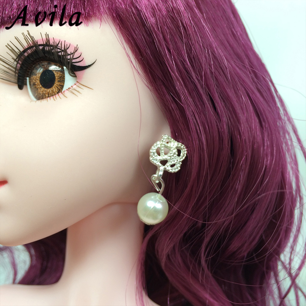 Drop Earrings For Bjd Doll Ornaments And Jewellery Bow Knot Suit 29-30cm Barbi Doll Accessories