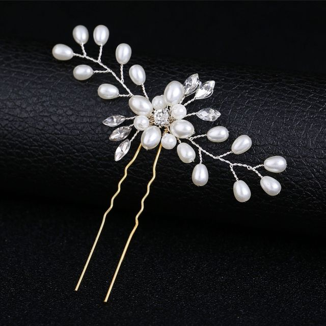 Ebay Cross Border Supply of Goods Korean Style Bride Hairpin Fashion Marriage Ornament Hairpin Bride Wedding Dress Modeling Acce