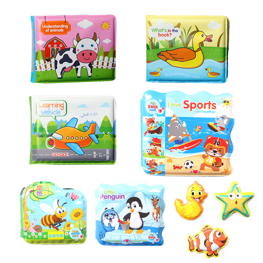 Floating Baby Bath Time Waterproof Bathtub Books Kids portable Learning Bath Toys Educational Infant water Toys for Toddlers