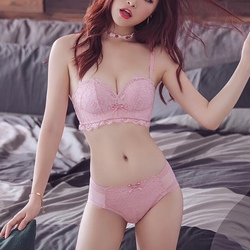 Bra Set With Matching Panties Sexy Lingerie Jacquard Invisible Underwire Lace Bra Set Without Straps Gather Adjustable Bra Sets