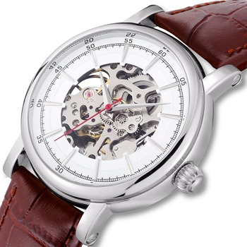 Watch Automatic Stainless Steel Backcase Transparent Relogio Automatico Mechanical Skeleton Dropshipping Unbrand - discount item  47% OFF Men's Watches