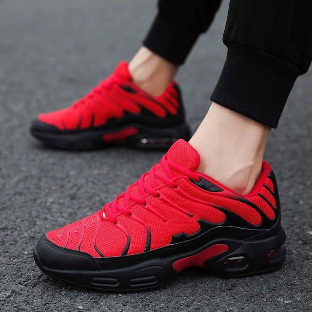 Damyuan 2019 Breathable mesh Men Sneakers Comfortable Air Cushion Outdoor Walking Heightened Red Running Shoes Big Size 46 2