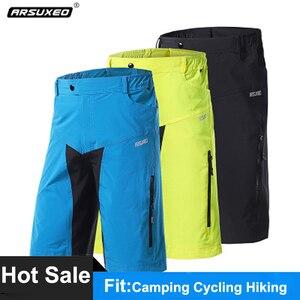 Arsuxeo calções de caminhada dos homens verão esportes ao ar livre bicicleta shorts acampamento ciclismo downhill roupas mtb mountain bike calças curtas