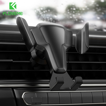 FLOVEME Phone Holder Auto Lock Car Phone Holder Air Vent Clip Mount Stand No Magnetic Gravity Mobile Phone Stand Support In Car