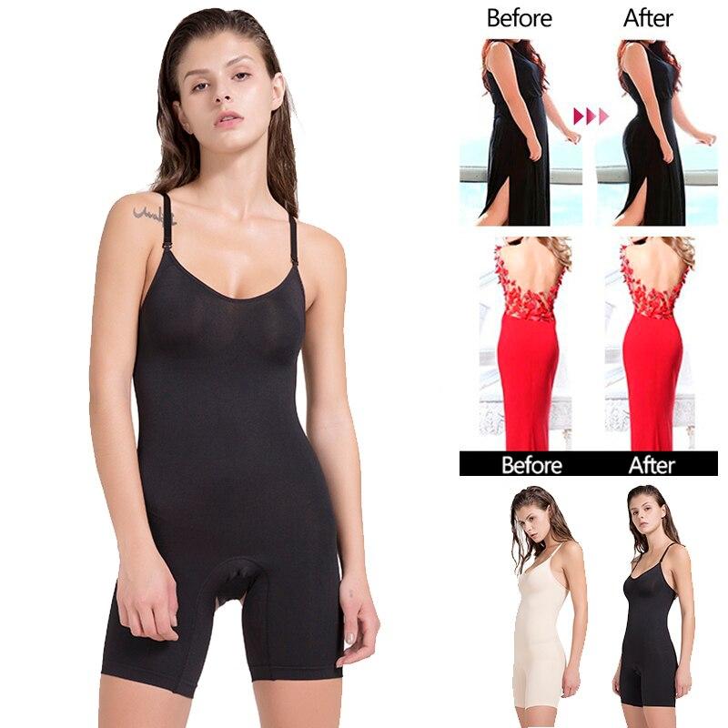 Sexy Camisole Slimming Slip Shapewear Body Shape Sliding Control Seamless Under Dress Waist Trainer Full Body Shaper Shaping