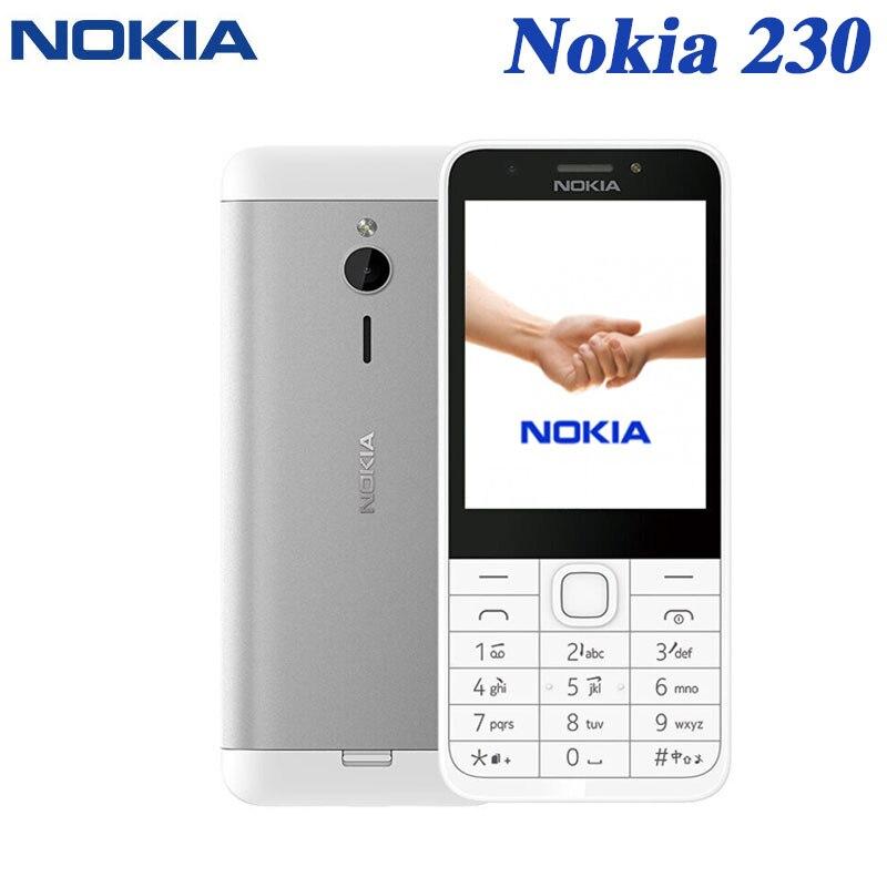 Nokia 230 Refurbished Mobile Phone Single Dual Sim Version English keyboard Original Unlocked Phone