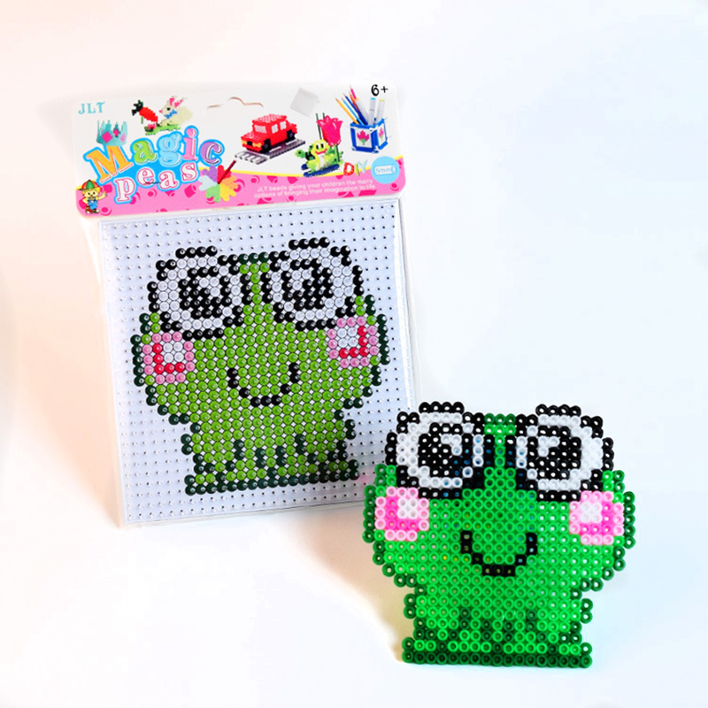 2020 Sale Hama Beads 5mm Frog Kit 5mm Hama Beads 3D Puzzle DIY Toy Kids Creative Handmade  Educational Toys