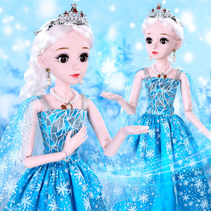 60 см ледяная Снежная принцесса куклы набор ролевые игры милая кукла для детей подарок на день рождения игрушки